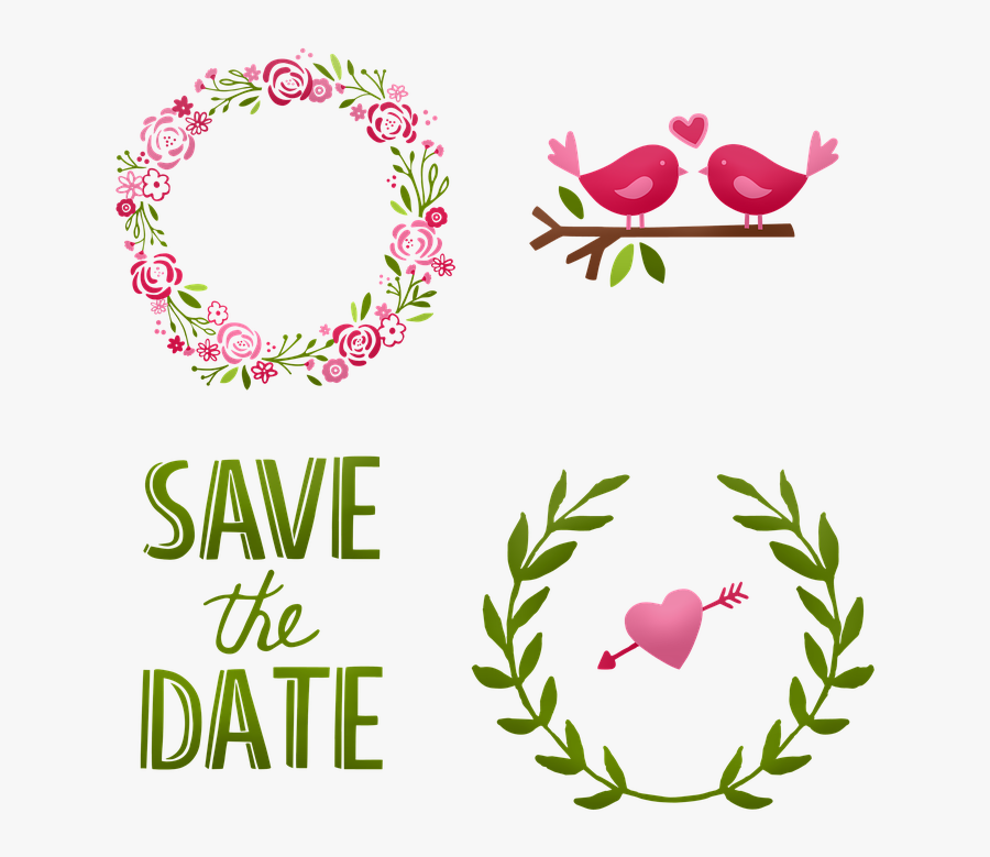 Wedding, Cake Wreath, Save The Date, Marriage - Paper Flower Template Svg Free, Transparent Clipart