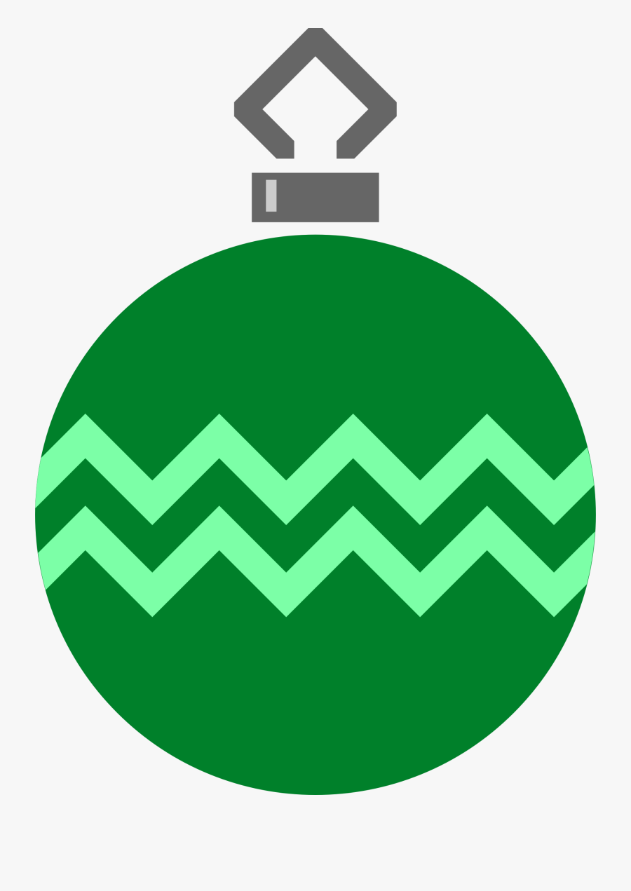 Simple Tree Bauble Big Image Png - Simple Christmas Ornament Clip Art, Transparent Clipart