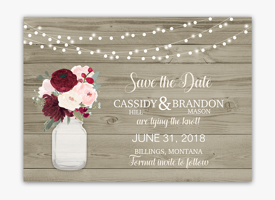 Clip Art Rustic Save The Date Templates Free - Wedding Invitation, Transparent Clipart