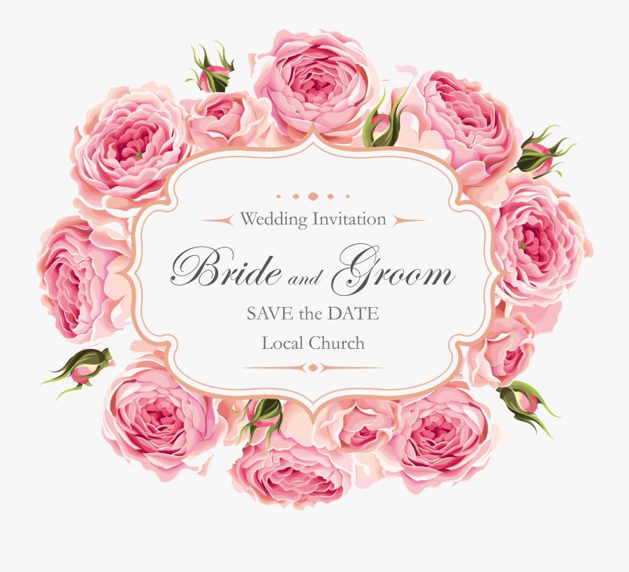 Rose Wedding Creative Roses Design Invitation Clipart - Kartu Ucapan Happy Engagement, Transparent Clipart