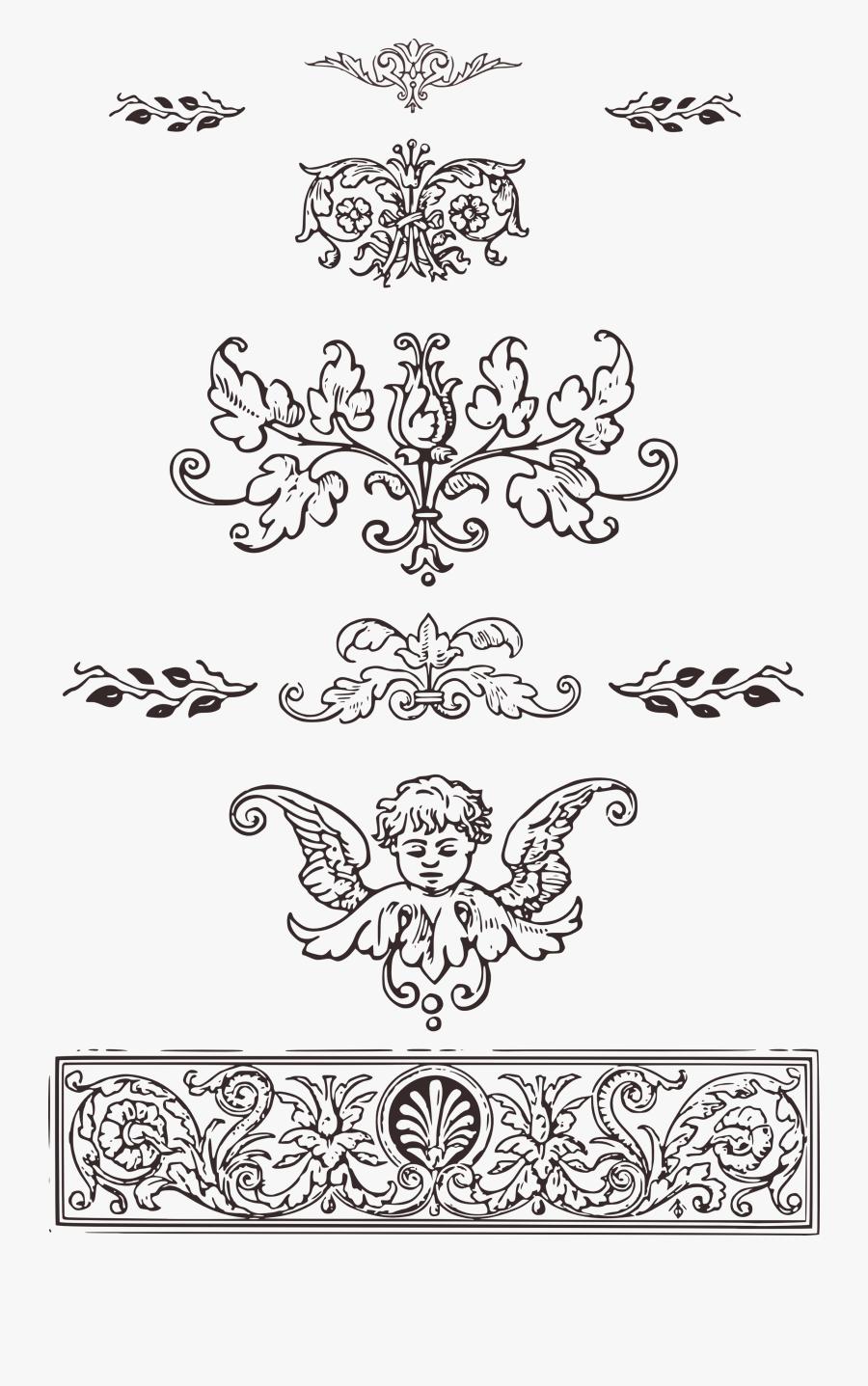 Transparent Ornament Clip Art - Vintage Decoration Ornaments Png, Transparent Clipart