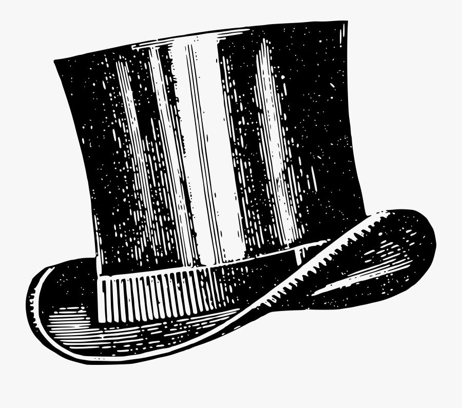 Top Hat Drawing Vintage - Vintage Top Hat Clip Art, Transparent Clipart