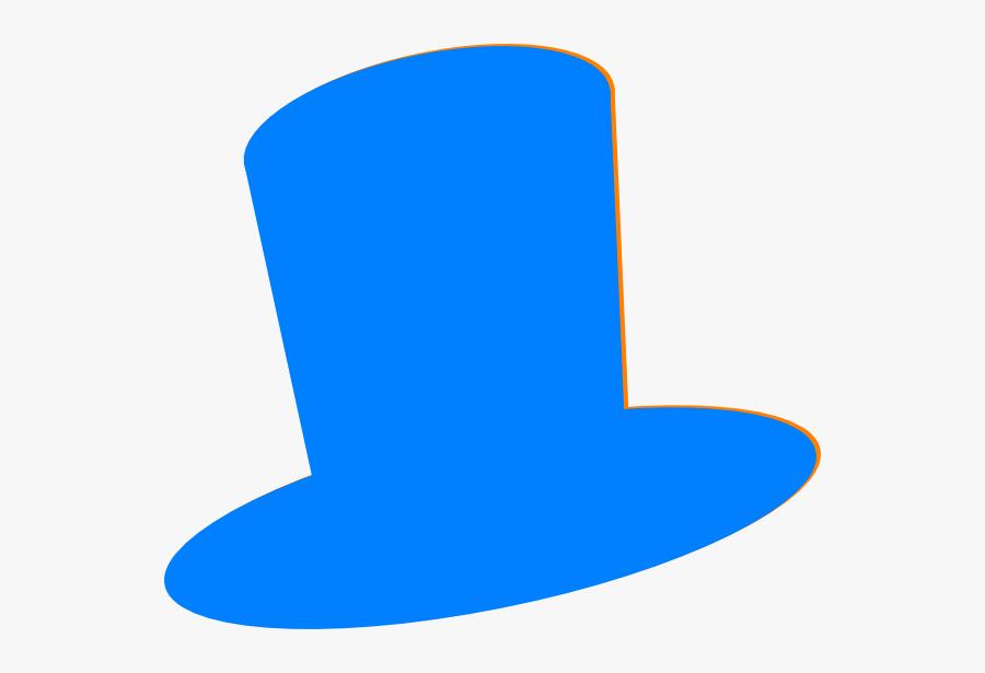 Top Hat Blue Hat Clip Art At Vector Clip Art - Blue Top Hat Png, Transparent Clipart