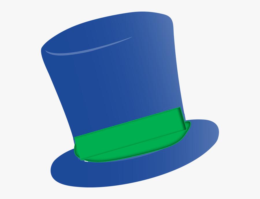 Transparent Top Hat Clip Art - Blue And Green Top Hat, Transparent Clipart