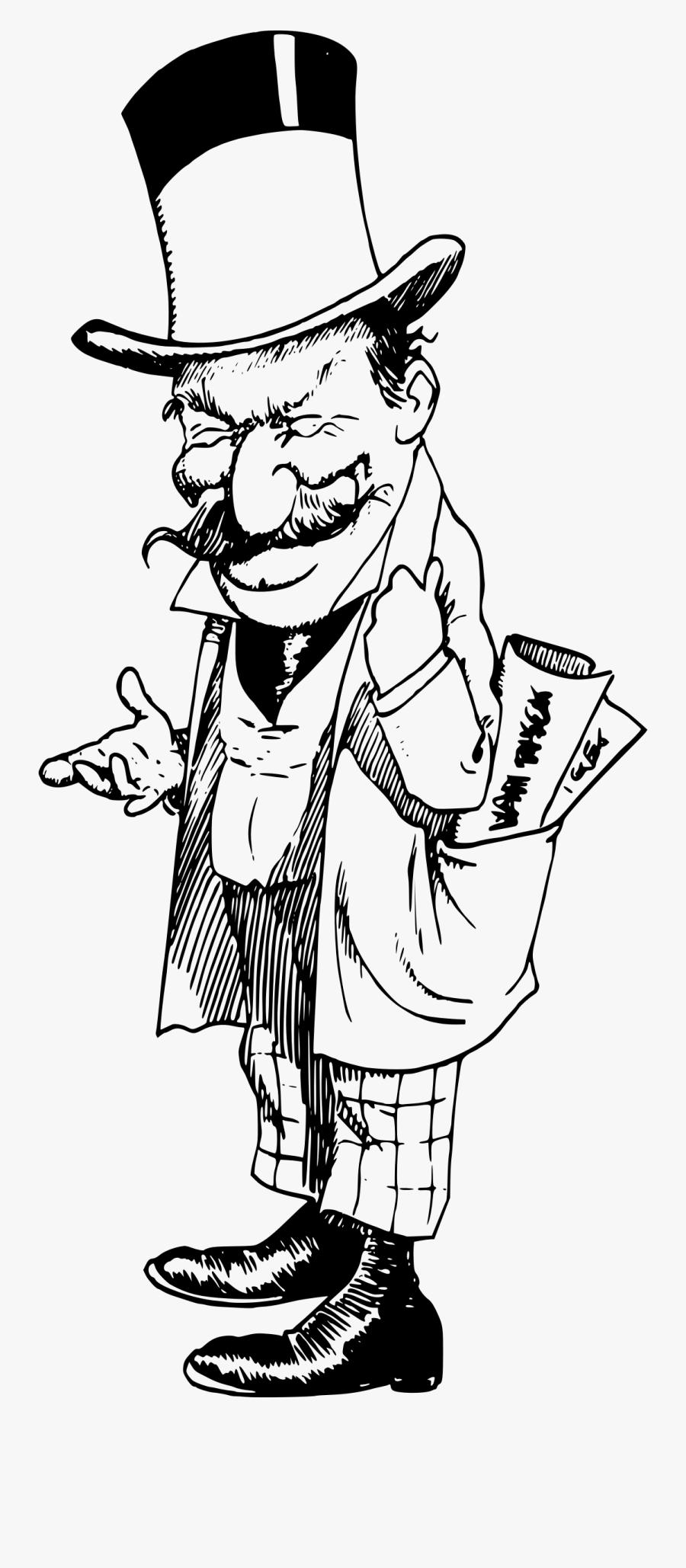 Top Hat Man Standing Clip Arts - Evil Top Hat Man, Transparent Clipart