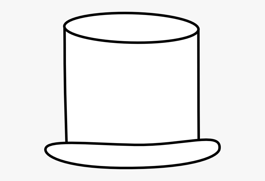White Top Hat Png, Transparent Clipart