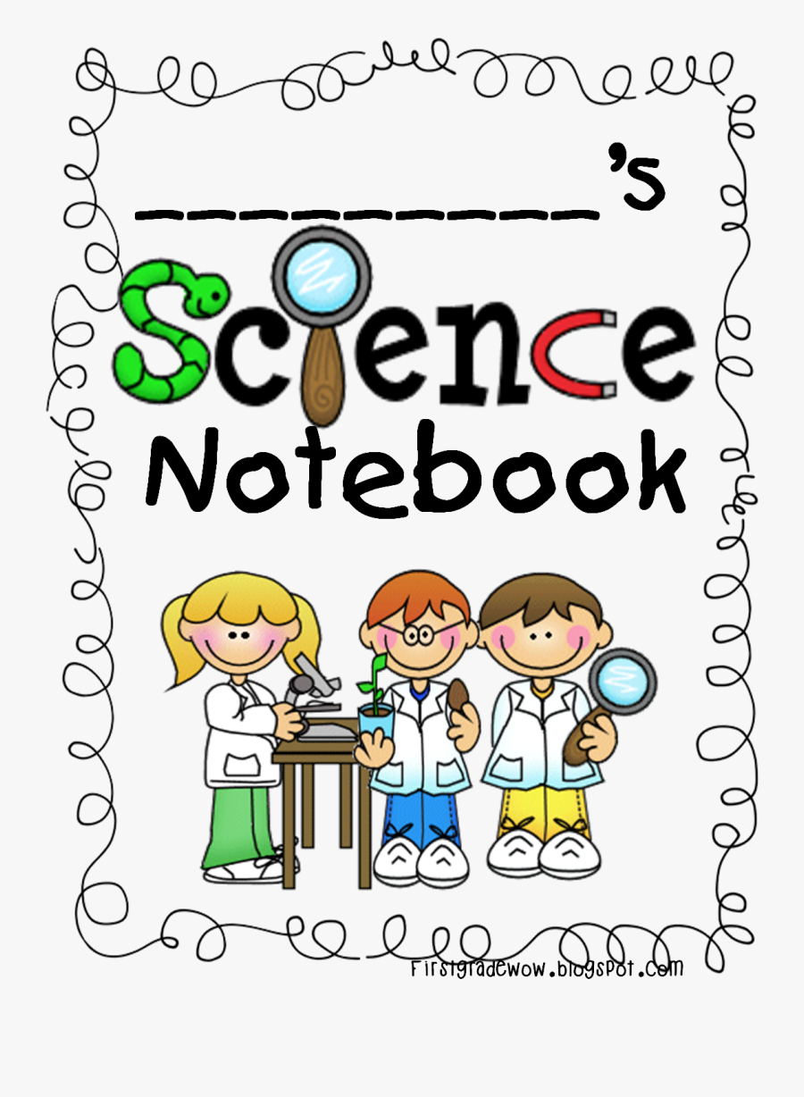 Science Notebook Clipart - Free Printable Science Notebook Cover, Transparent Clipart