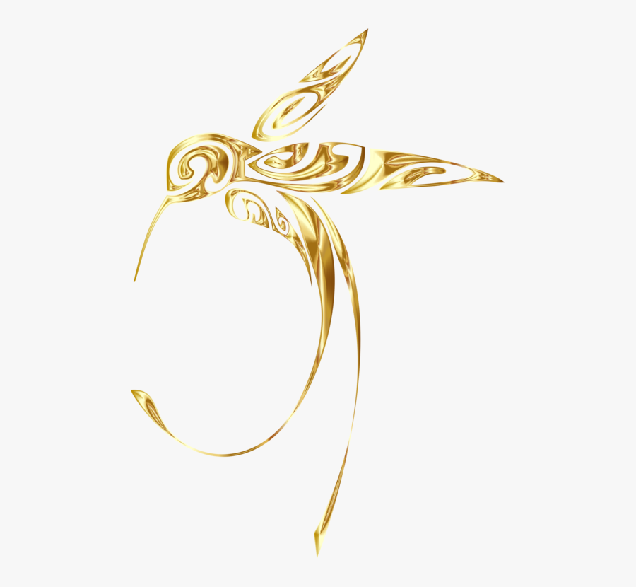 Fashion Accessory,jewellery,body Jewelry - Transparent Gold Hummingbird Clipart, Transparent Clipart