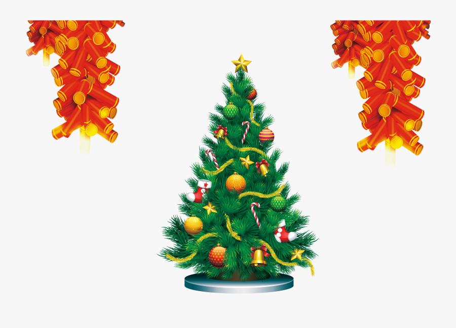 Firecracker Vector Ornament - Transparent Christmas Tree, Transparent Clipart