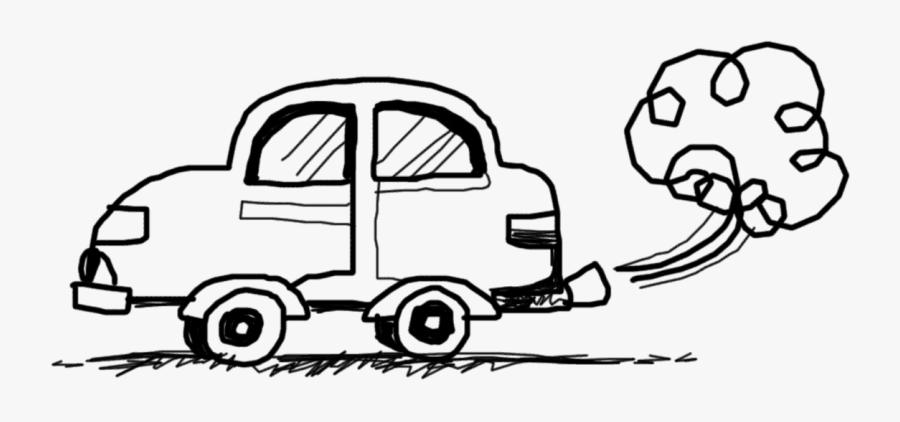Smoking Car Cliparts - Car Smoke Clipart Black And White, Transparent Clipart