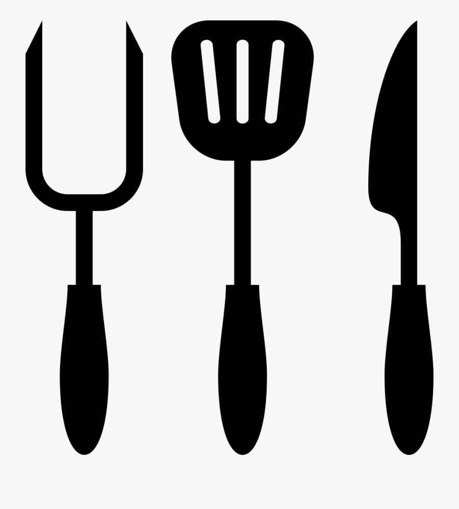 Shovel,fork,tool,garden Tool,cutlery,clip Art,tableware,spatula - Kitchen Utensils Icon, Transparent Clipart