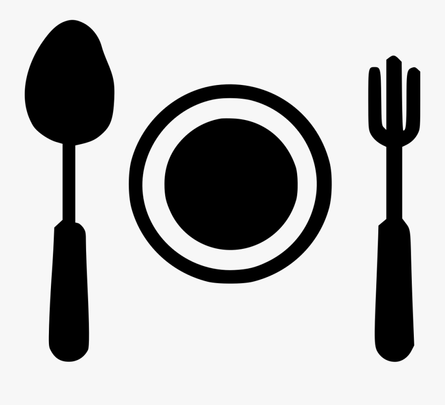 Dish Clipart Spoon Fork Plate - Png Spoon Fork, Transparent Clipart