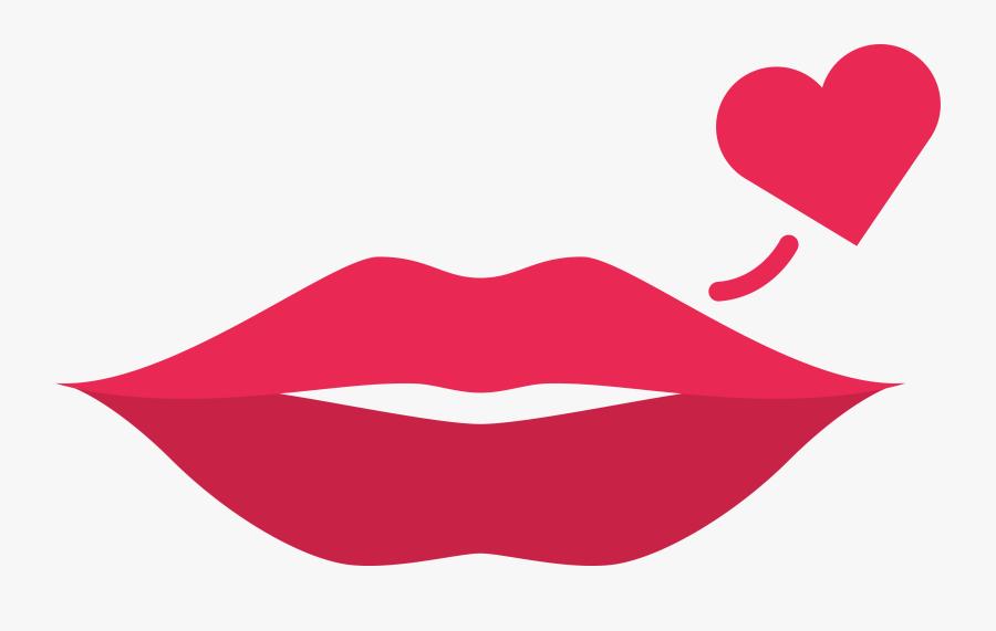 Kiss Clipart Simple Lip , Free Transparent Clipart