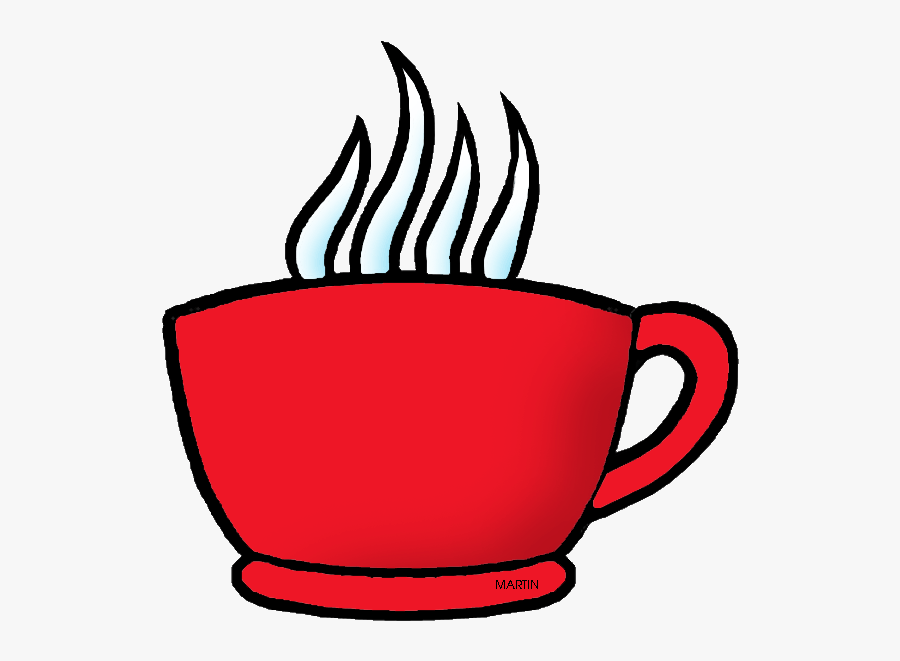 Cup Of Coffee Clipart Free Download Clip Art - Red Coffee Cup Cartoon, Transparent Clipart