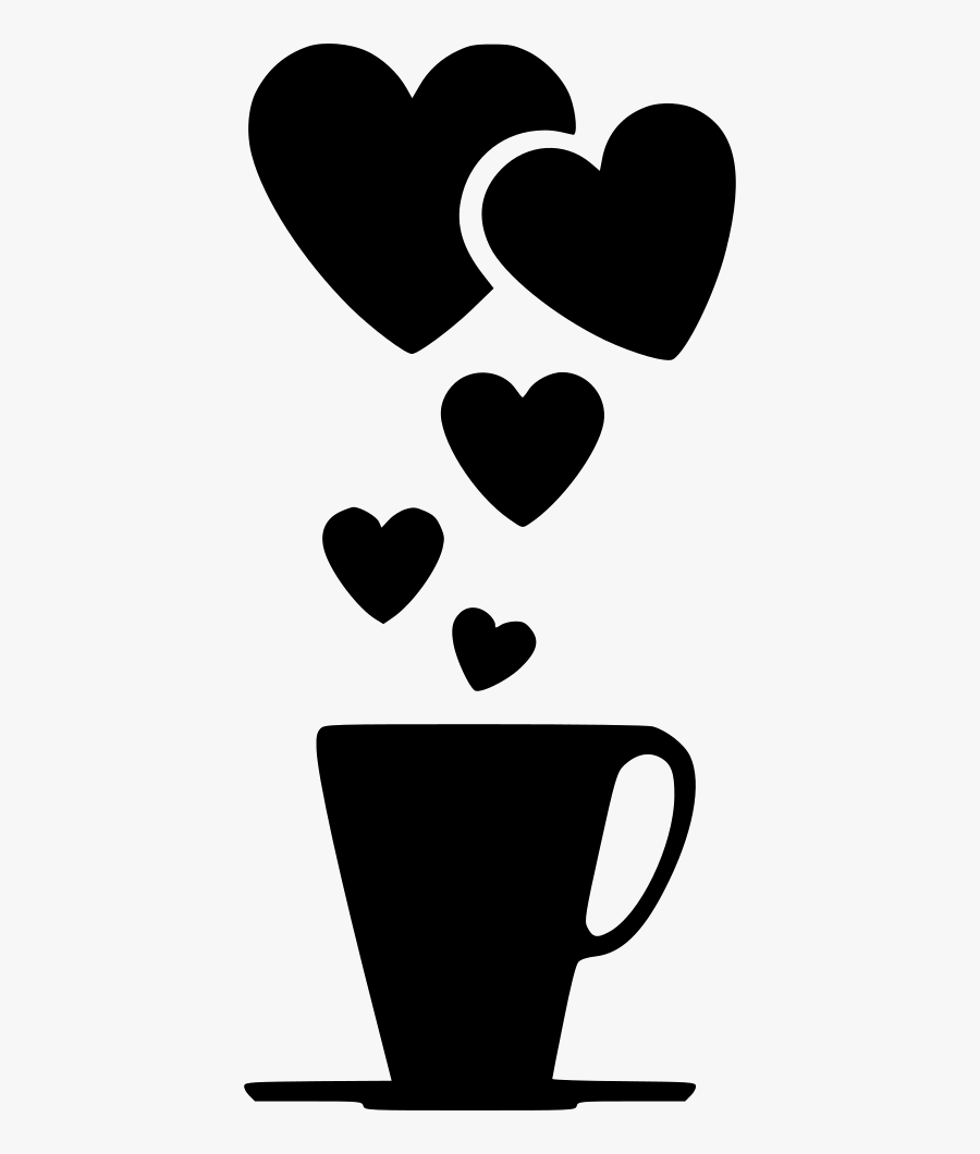 Heart,black,black And White,clip Art,cup,drinkware,coffee - Romantic Love Pic Png, Transparent Clipart