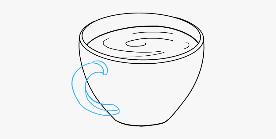 How To Draw Coffee Cup - Draw Coffee Cup Show, Transparent Clipart