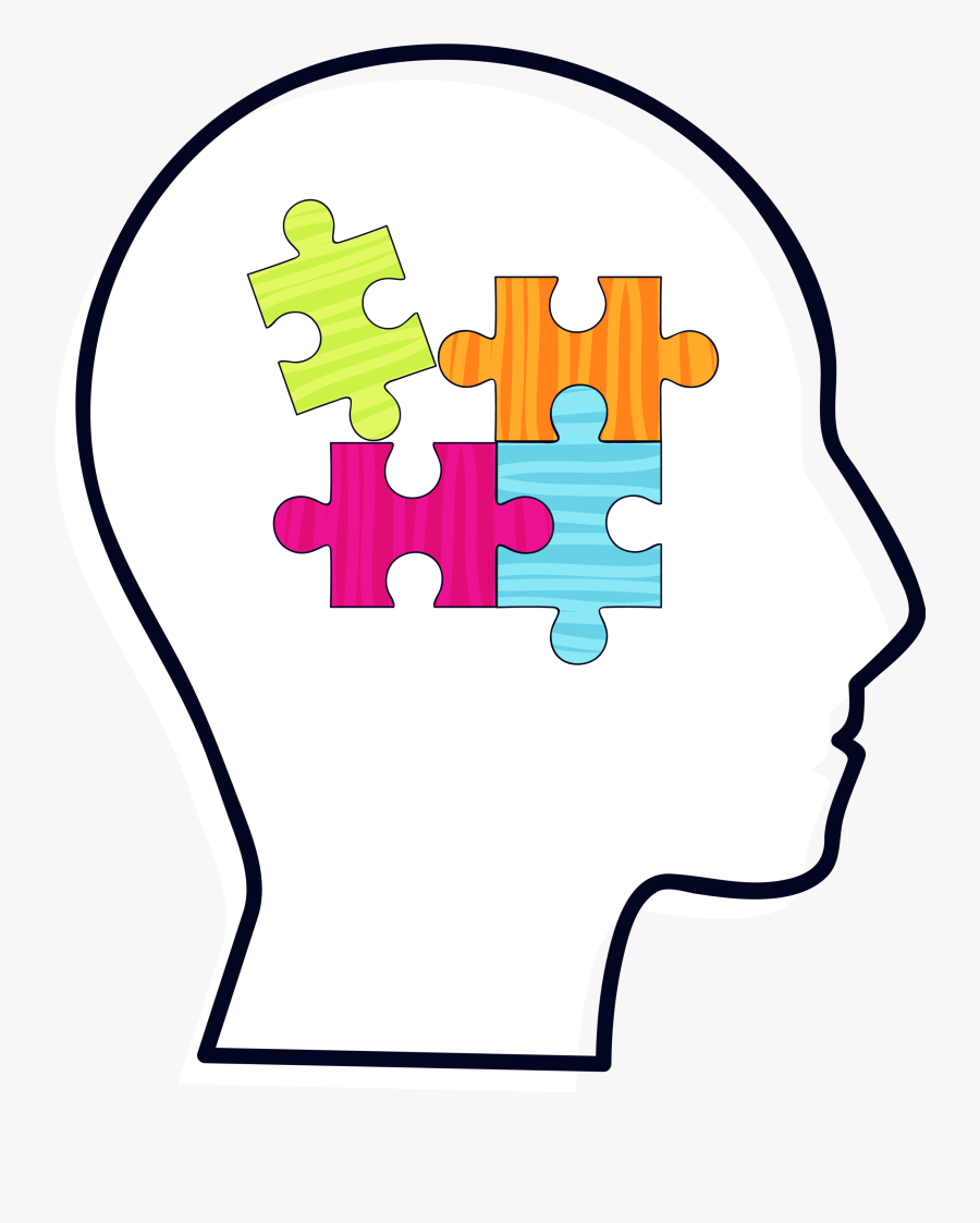 Brain Clip Black Transprent - Kid Puzzles Head Clipart, Transparent Clipart
