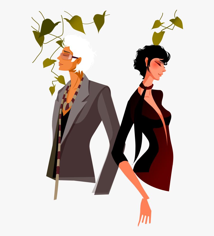 Fashion Clipart Man Woman - Man Woman Fashion Clipart, Transparent Clipart