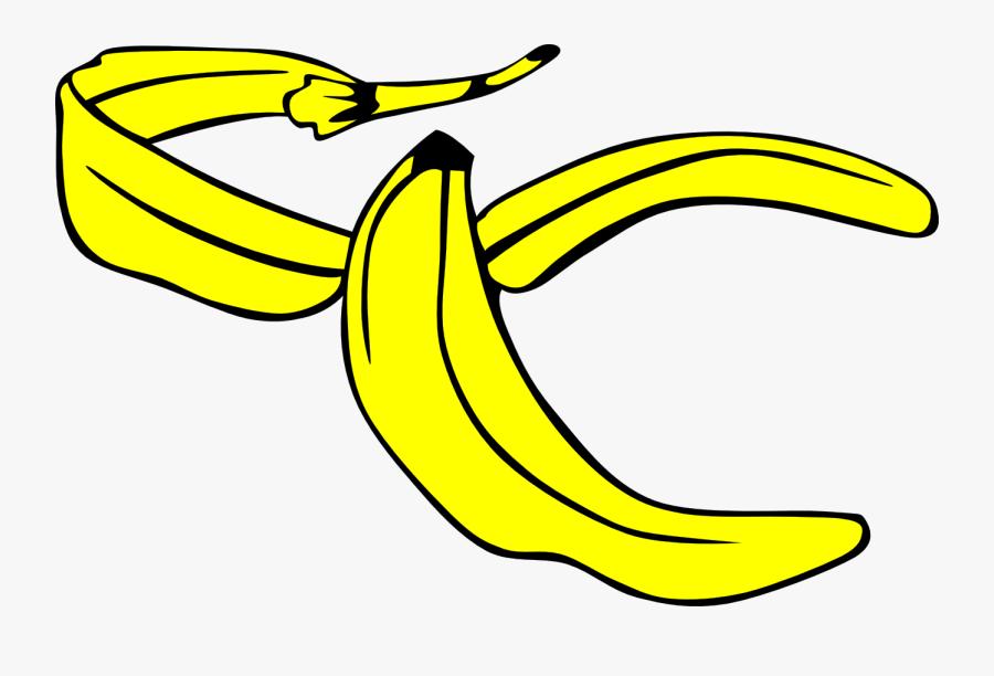 Banana Yellow Peel - Banana Peel Clipart Png, Transparent Clipart