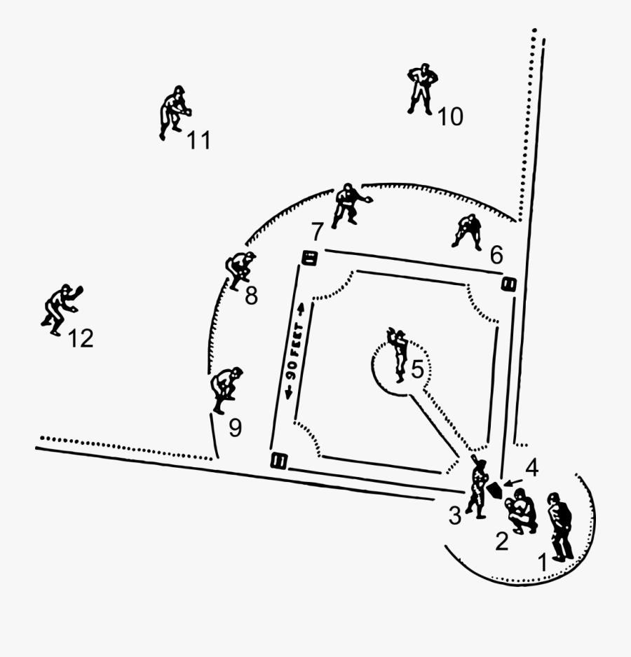 Transparent Diamond Clipart - Baseball Field Line Drawing, Transparent Clipart