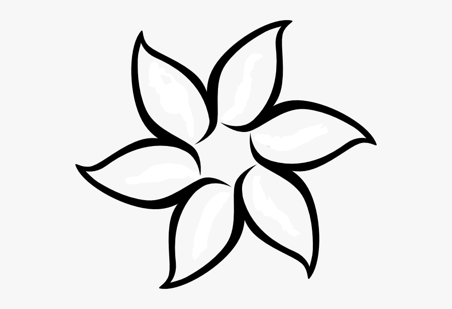 Awesome Resource For Simple Outline Clipart - Flower Clip Art, Transparent Clipart
