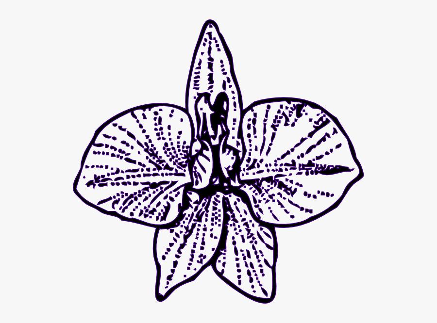 Flower Outline Svg Clip Arts - Larkspur Flower Tattoo, Transparent Clipart