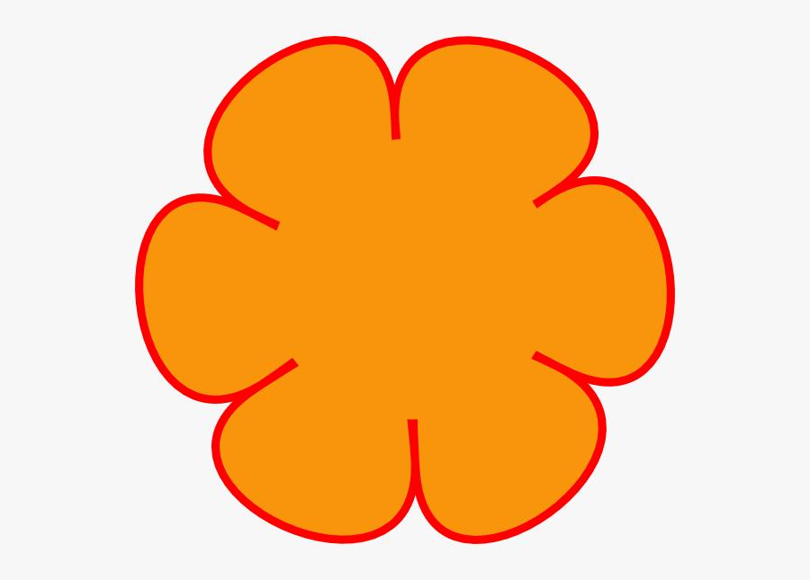 Red Flower Clipart Outline - Flower Clip Art, Transparent Clipart