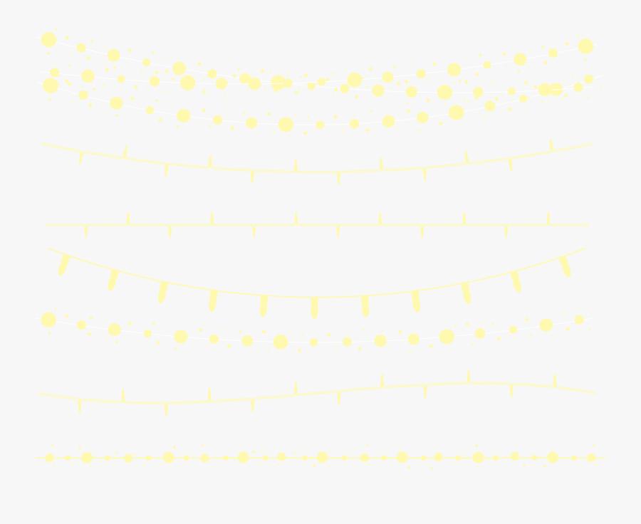 Seven String Material Lights Vector Holiday Clipart - String Lights Png Transparent, Transparent Clipart