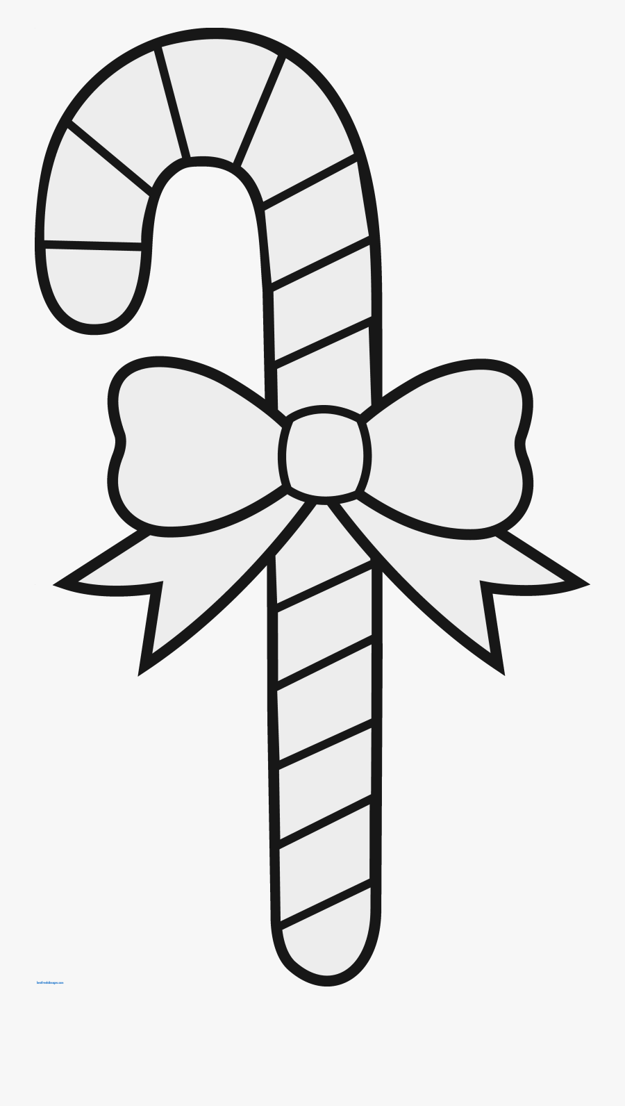 Transparent String Lights Clipart Black And White - Christmas Drawings Candy Cane, Transparent Clipart