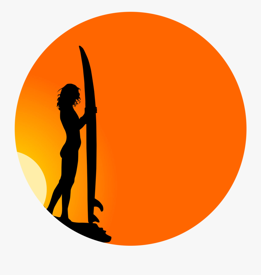 About Billabong Womens Site - Surfer At Sunset, Transparent Clipart