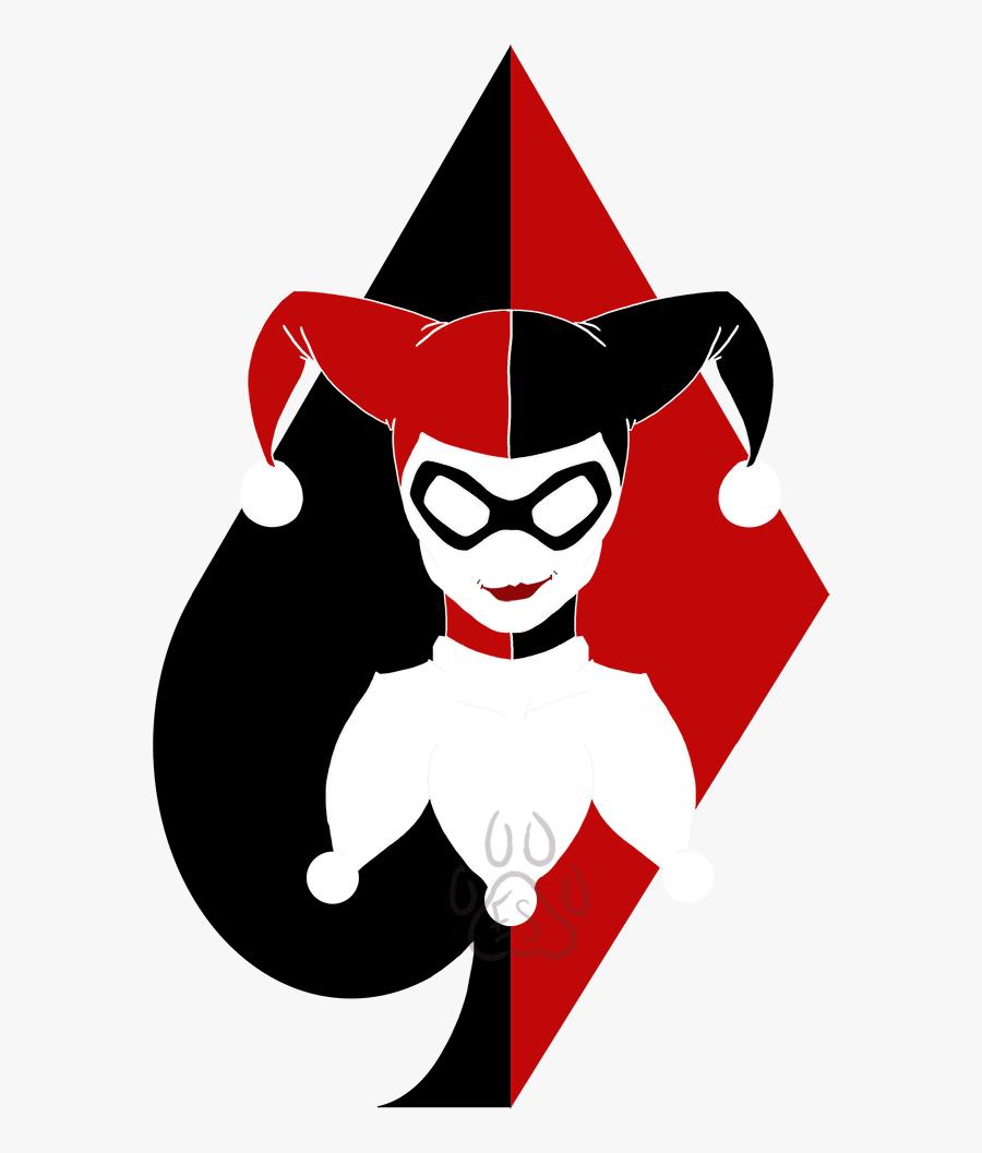 Joker Vector Minimal - Harley Quinn Drawing, Transparent Clipart