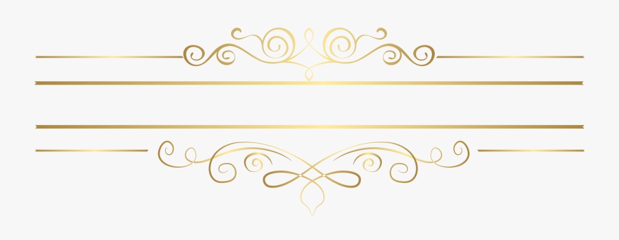Gold Decorative Element Transparent Clip Art - Decoration Line Png Gold, Transparent Clipart
