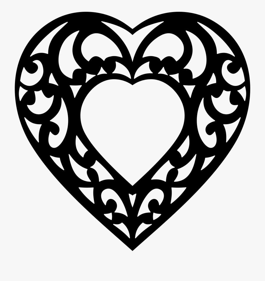 Decorative Hearts Cliparts - Clipart Decorative Heart, Transparent Clipart