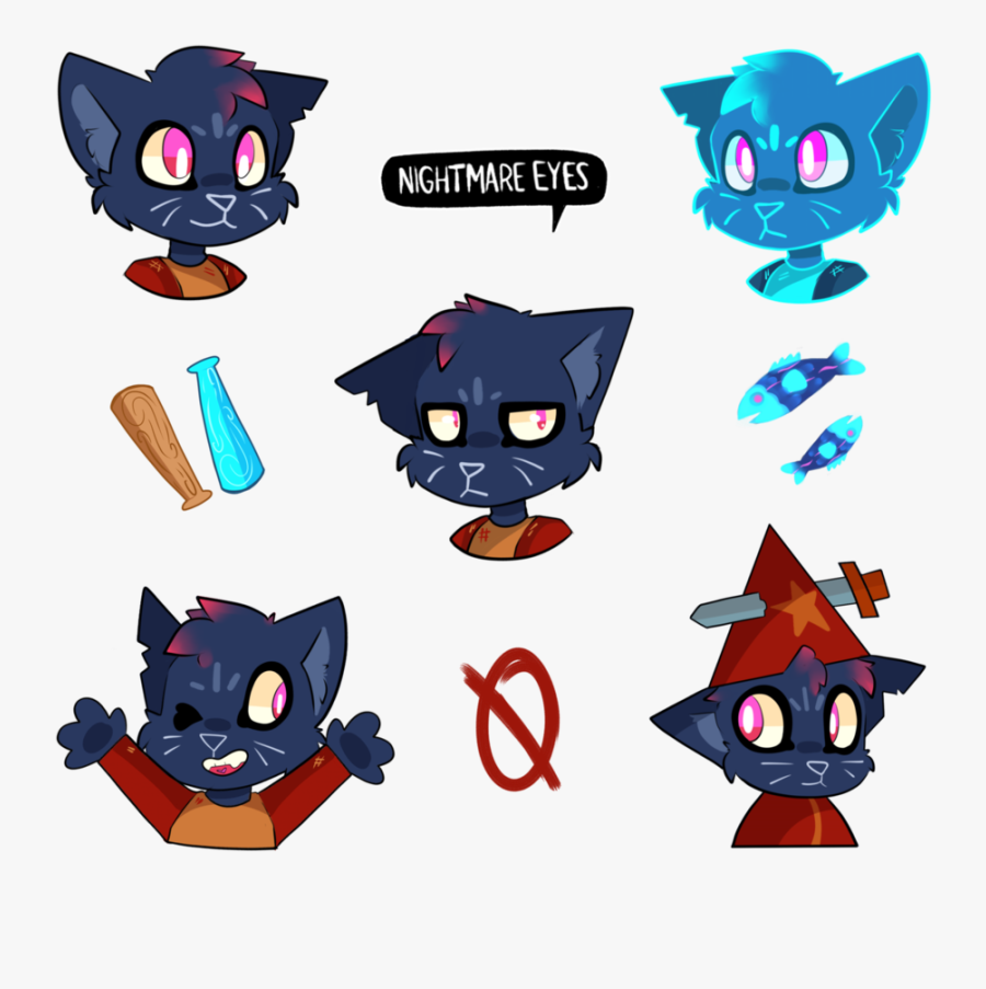 Mae Borowski Night In The Woods Sticker Sheet By Cometcrumbs - Night In The Woods Mae Fanart, Transparent Clipart