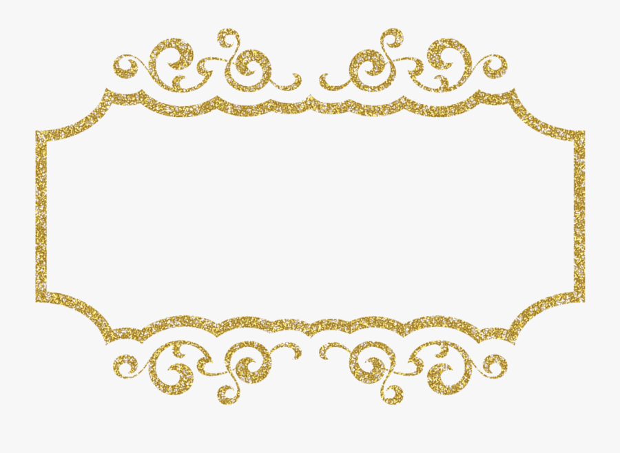 Graphic Black And White Stock Free Scrapbook Craft - Gold Glitter Frames Png, Transparent Clipart