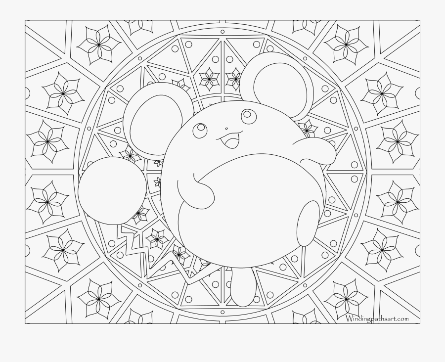 Marill Coloring Pages - Pokemon Adult Coloring Pages, Transparent Clipart
