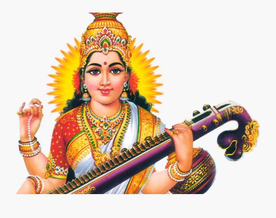 Saraswati Png Transparent Images - Sarswati God Image Png, Transparent Clipart