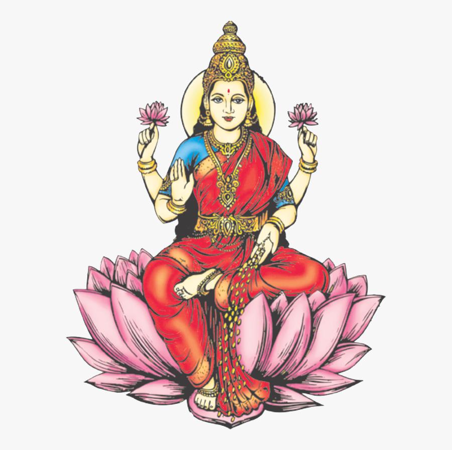 Lakshmi Free Png Image - Lakshmi Drawing, Transparent Clipart