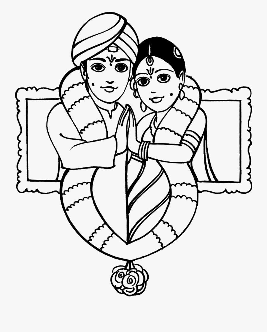 God Clipart Saraswati - Line Art, Transparent Clipart