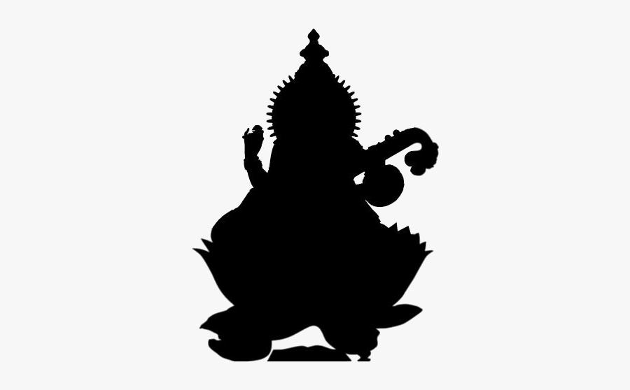 Goddess Png Transparent Images - Saraswati Silhouette, Transparent Clipart