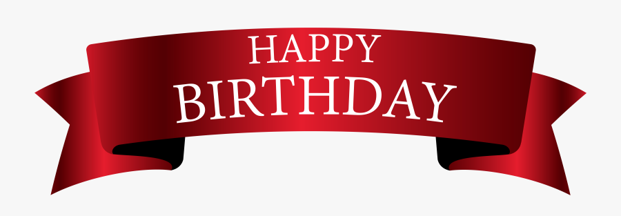 Happy Birthday Banner Png, Transparent Clipart