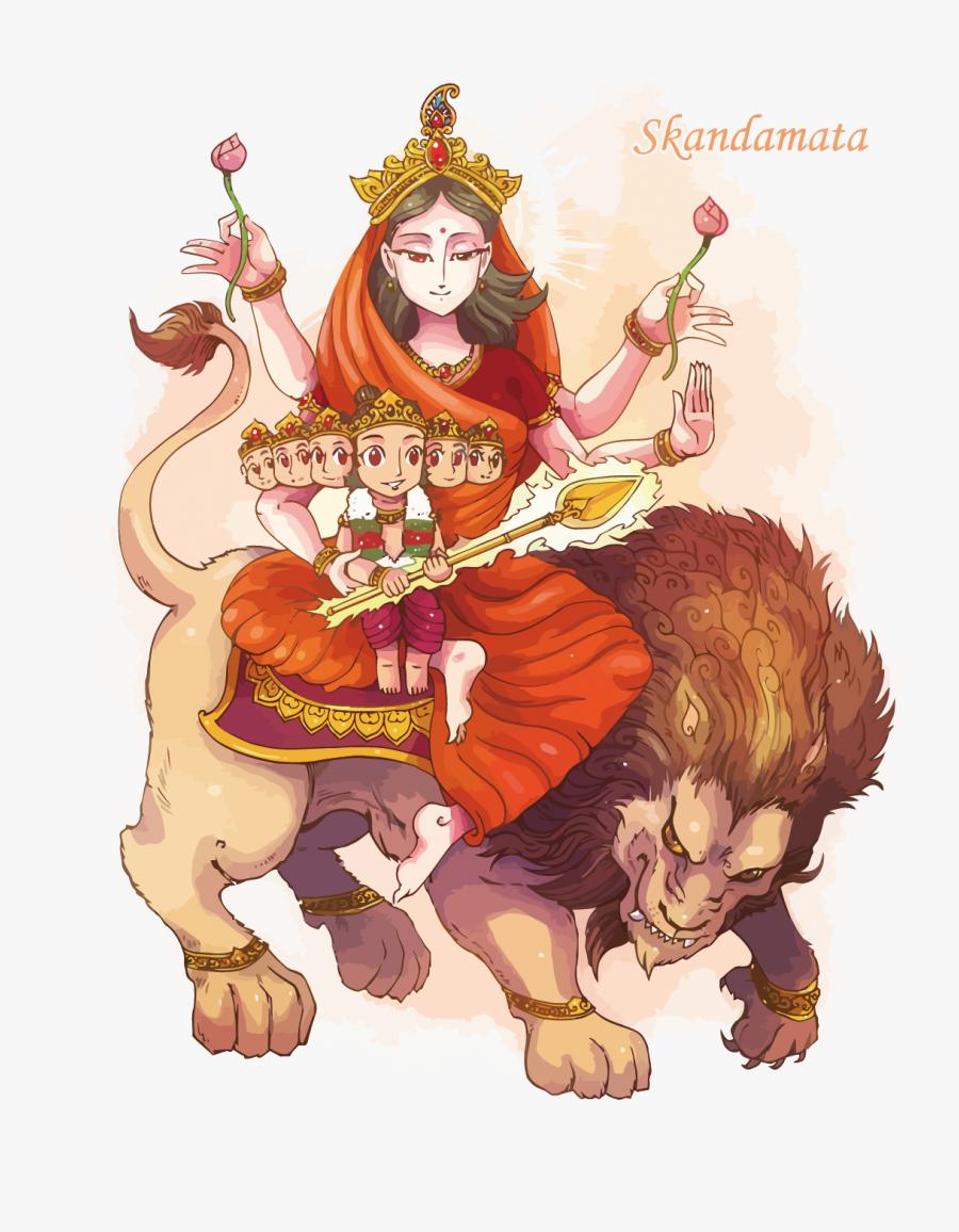 Kushmanda Devi Vector, Transparent Clipart
