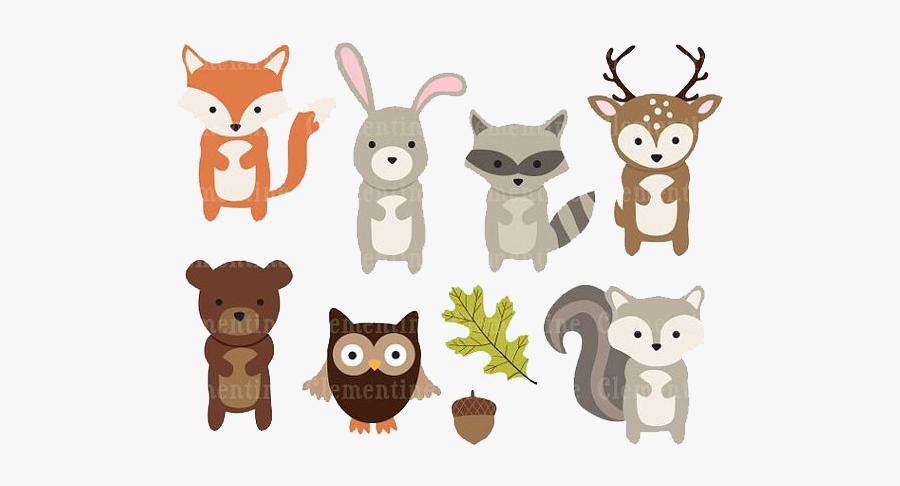 Paper Woodland Animal Clip Art - Woodland Animals Clipart Png, Transparent Clipart