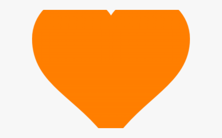 Orange Heart Emoji Discord, Transparent Clipart