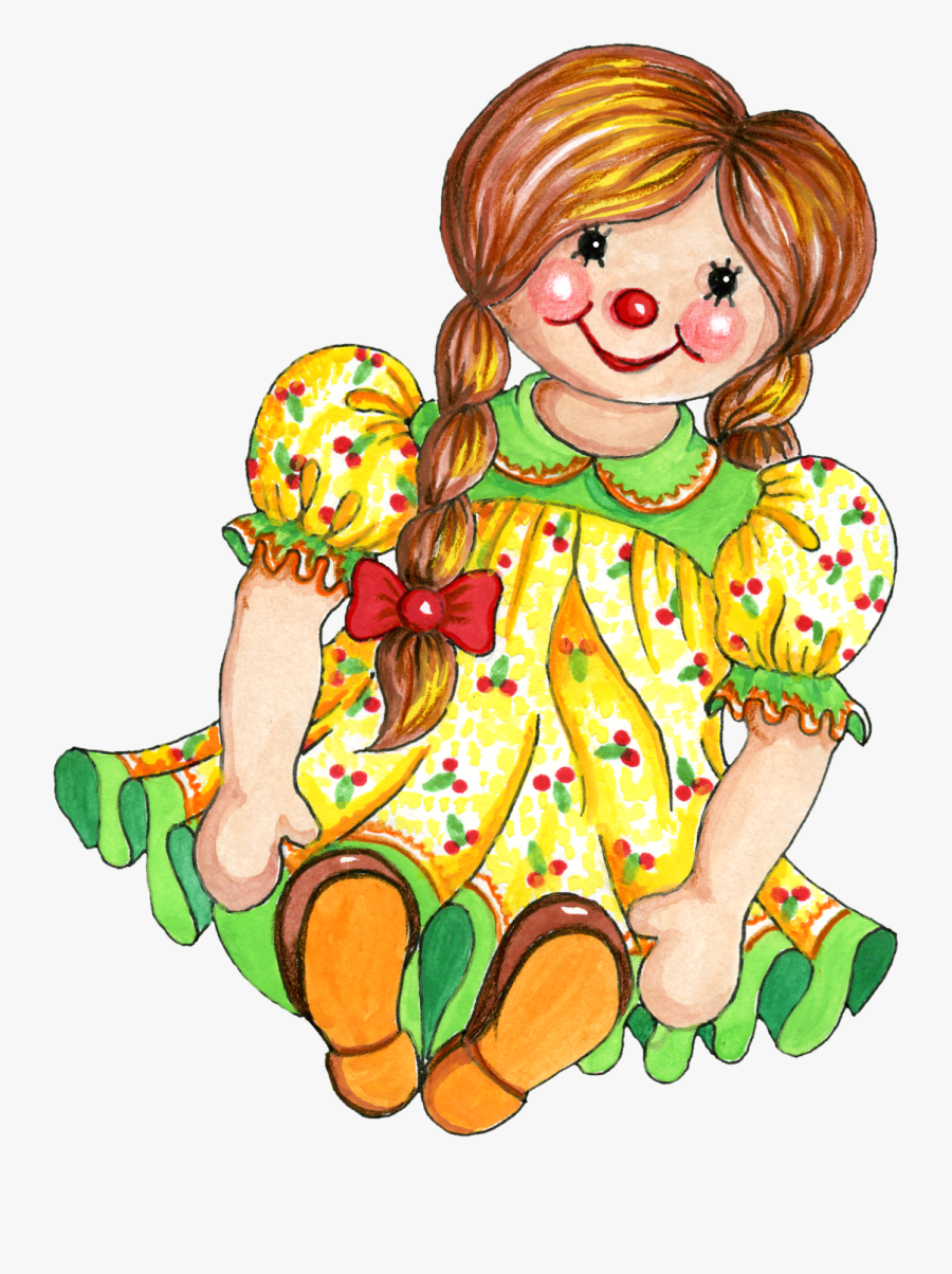 Dolls Clipart - Free Clip Art Rag Doll, Transparent Clipart