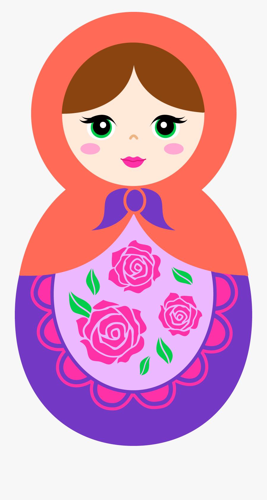 And Purple Matryoshka Doll - Matryoshka Doll Clipart, Transparent Clipart