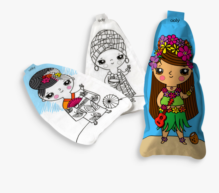 Ooly 3d Colorables World Peace Dolls Clipart (1024x1024), - Doll, Transparent Clipart