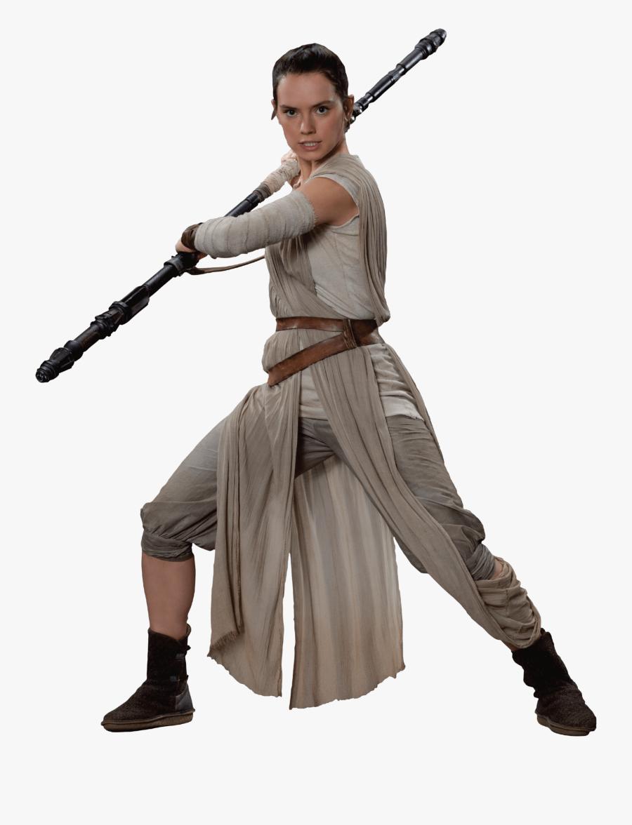 Rey Skywalker Star Wars Png Clipart Image - Rey Star Wars No Background, Transparent Clipart