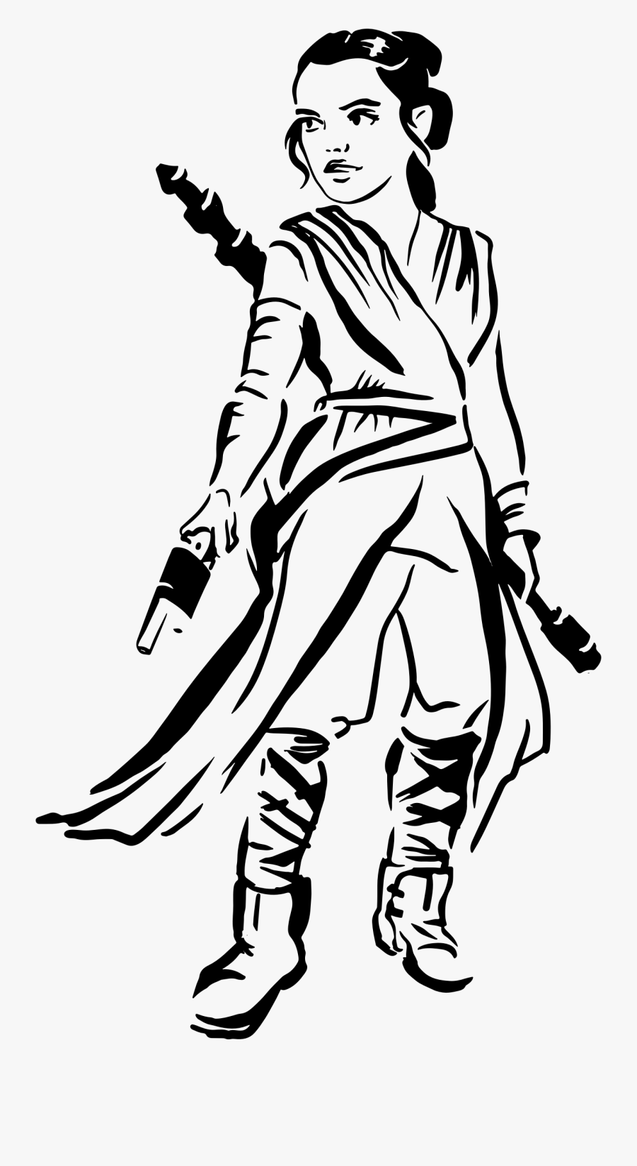 Transparent Teeth Clipart Black And White - Rey Star Wars Coloring Page, Transparent Clipart