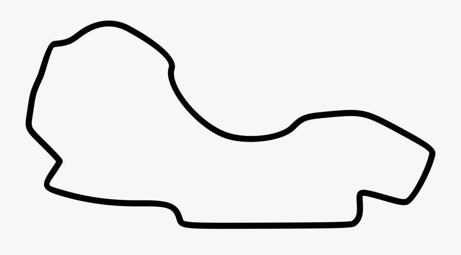 Racing Clipart Grand Prix - Melbourne F1 Race Track Outline, Transparent Clipart